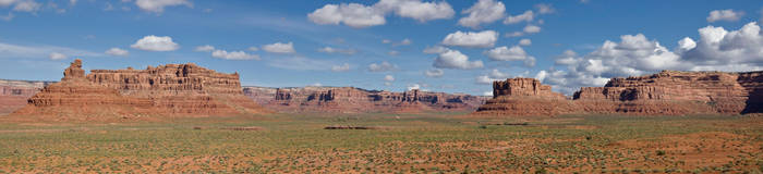Valley of the Gods panorama by djohn9