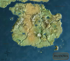 Map of Mudora: Atlas Version by TheWhiteMaiden