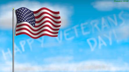 Flag on Veterans Day 18 by ArtsInSladeVision