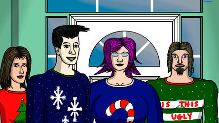 Xmas With the Super-Neighbors by ArtsInSladeVision