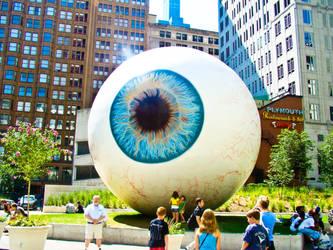 Chicago Eyeball Landmark by OutsanityDotCom