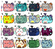 Catbeans! Batch 2 - Set Price [CLOSED] by HopefulAdopts