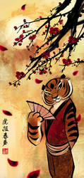 tigress and plum blossoms by wendichen