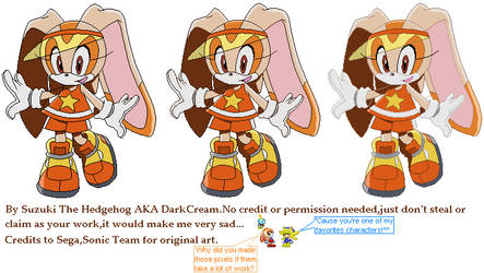 Cream Sonic Riders Pixel by DarkCream