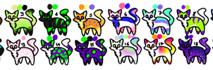Cat Adopts [4/20 OPEN][10 POINTS EACH] by StormlingAdopts