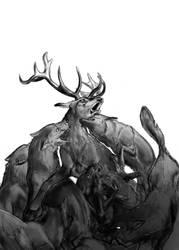 Chasing The Deer by ellianounoursblanc