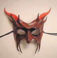 Red Devil Leather Mask by teonova