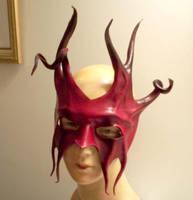 Leather Mask - Devil Jester by teonova