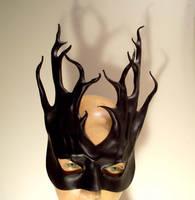 Black Leather Tendrils Mask by teonova