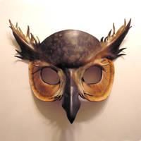 Leather Horned Owl Mask 2 by teonova