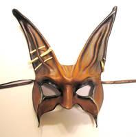 Tribal Rabbit Leather Mask by teonova
