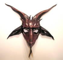 Leather Baphomet Mask oxblood by teonova