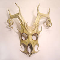 Leather Mask of Stag Spirit by teonova