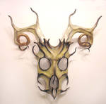 Stag Spirit Leather Mask by teonova
