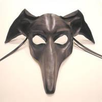 Greyhound Dog Leather Mask grey by teonova