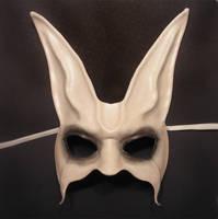 Ghost Rabbit Leather Mask by teonova