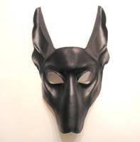 Black Jackal Leather Mask by teonova