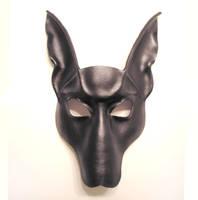 Leather Mask Black Jackal by teonova