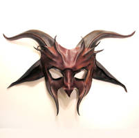 Red Devil Goat Leather Mask by teonova