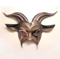 Freaky Goat Leather Mask Dark Carnival Look by teonova