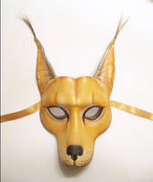 Caracal Cat Leather Mask by teonova