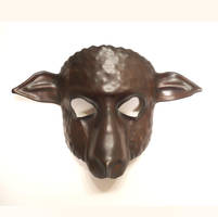 Sheep Leather Mask brown with black by teonova