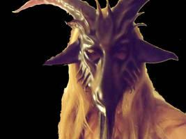 Leather Bearded Goat Mask Baphomet Krampus Satyr by teonova