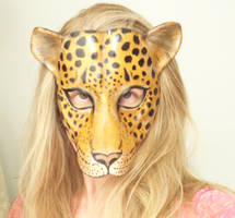 Teonova Leather Masks Leopard Mask by teonova