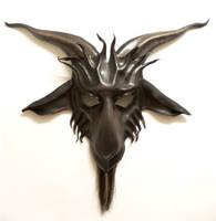 Leather Goat Mask Baphomet Krampus horsehair beard by teonova