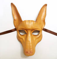 Pharaoh Hound Jackal Leather Mask Ibizan dog by teonova