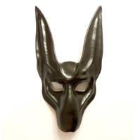Black Jackal Leather Mask Anubis Egyptian Dog by teonova
