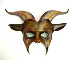 Goat Leather Mask by Teonova brown black tan by teonova