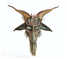 Baphomet Goat Leather Mask by Teonova by teonova