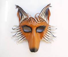Leather Fox Mask with Nose TEONOVA by teonova
