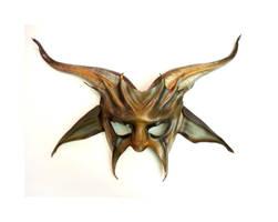 Baphomet Goat Leather Mask half face Teonova by teonova