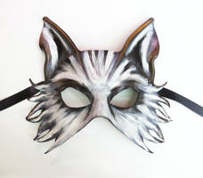 Wolf Fox or Dog Leather Mask spooky and tribal by teonova