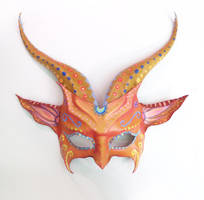 Colorful Goat Leather Mask sugar skull  Teonova by teonova