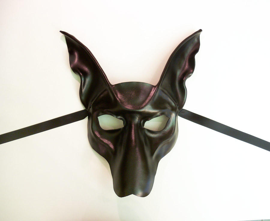 Black Jackal Anubis Leather Mask by Teonova by teonova
