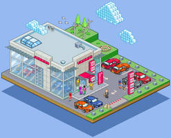 Honda Dealership... by gunstar-red