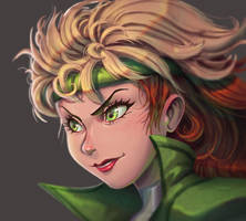 One face a day #19/365. Rogue (x-men) by Dylean