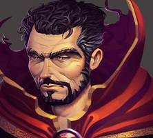 One face a day #53/365. Doctor Strange by Dylean