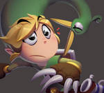 One face a day #65/365. Toon Link (Minish Cap) by Dylean