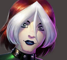One face a day 148/365. Rogue (x-men evolution) by Dylean