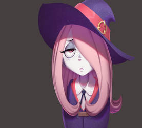 one face a day 168/365. Sucy little witch academia by Dylean