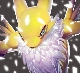 One face a day 198/365. Renamon  (Digimon Tamers) by Dylean