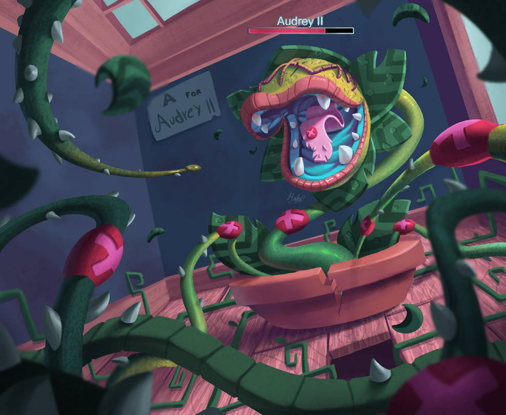 Fake Game Cursed Alphabet. Boss battle. Audrey II by Dylean