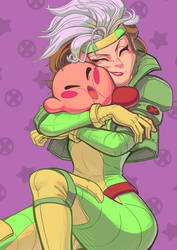 Rogue and Kirby by Dylean