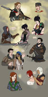 Dragon Age Sketches Page 2 by Guyver89