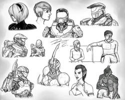 Breaking Art Block #3 Old drawings by Guyver89