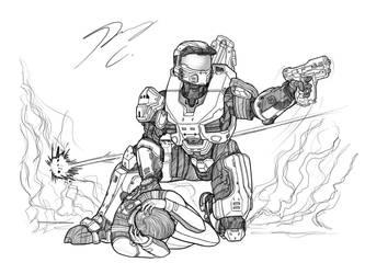 Breaking Art Block #7 Under Fire by Guyver89